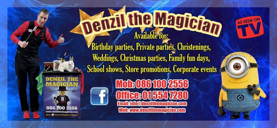 Denzil the Magician flyer