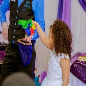 Communion magic trick with colour