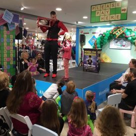 Kids magician at Arnotts store event
