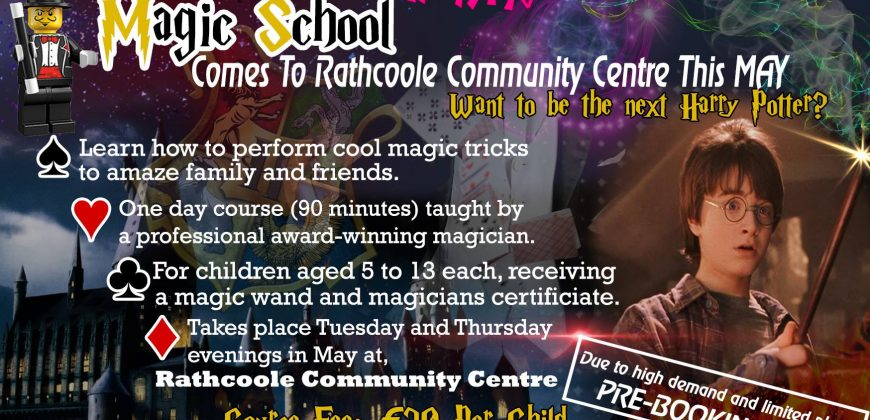 Denzil The Magician magic school flyer