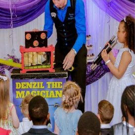 Childrens entertainer at Communion