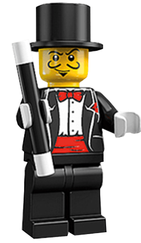 Magician lego man entertainer