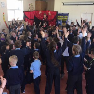 Party magician in a School show